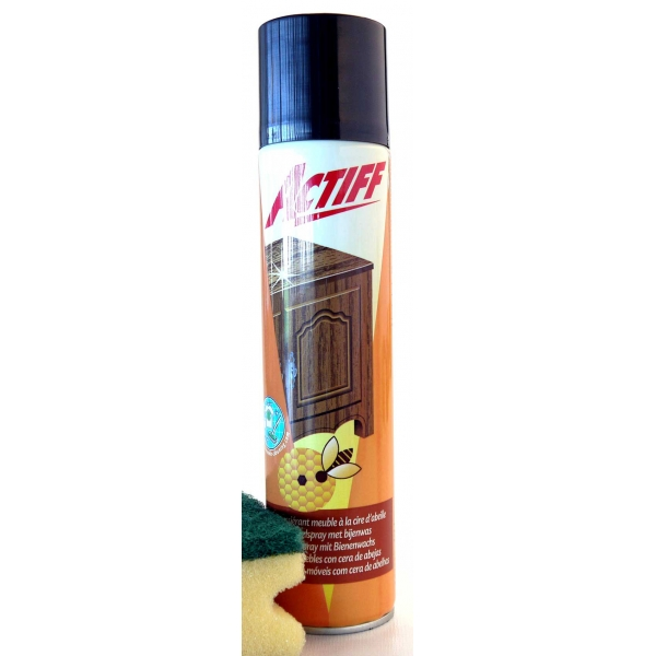 Actiff depoussierant meuble a la cire d 39 abeille 300 ml for Cire d abeille meuble