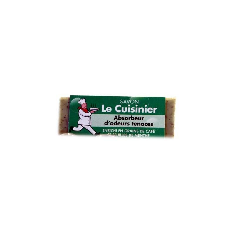 LE CUISINIER PRESENTOIR SAVON 80 GR GRAIN DE CAFE ET MENTHE X42