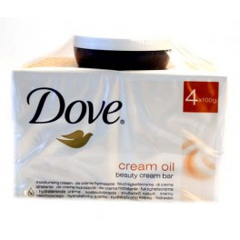 DOVE SAVON DE TOILETTE 4 X 100 GR CREAM OIL