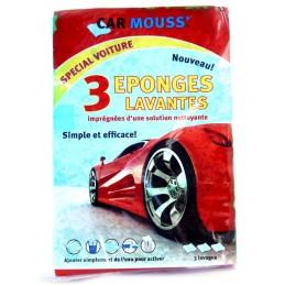 CAR MOUSS 3 EPONGES LAVANTES POUR VOITURE