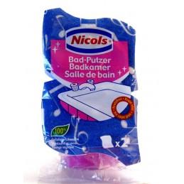 NICOLS EPONGE A RECURER SALLE DE BAINS PAR 2 PCS