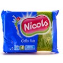 NICOLS CELLULOSE SCHUURSPONS CELLO FUN GROEN FLUO X 2