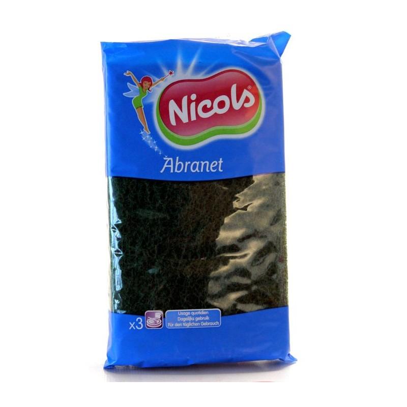 NICOLS TAMPON A RECURER VERT ABRANET X 3