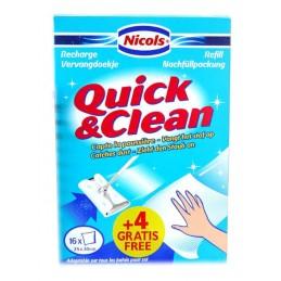 QUICK &CLEAN NAVULLING 16 ST+ 4ST GRATIS