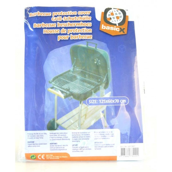 basic x housse de protection pour barbecue 125 x 6
