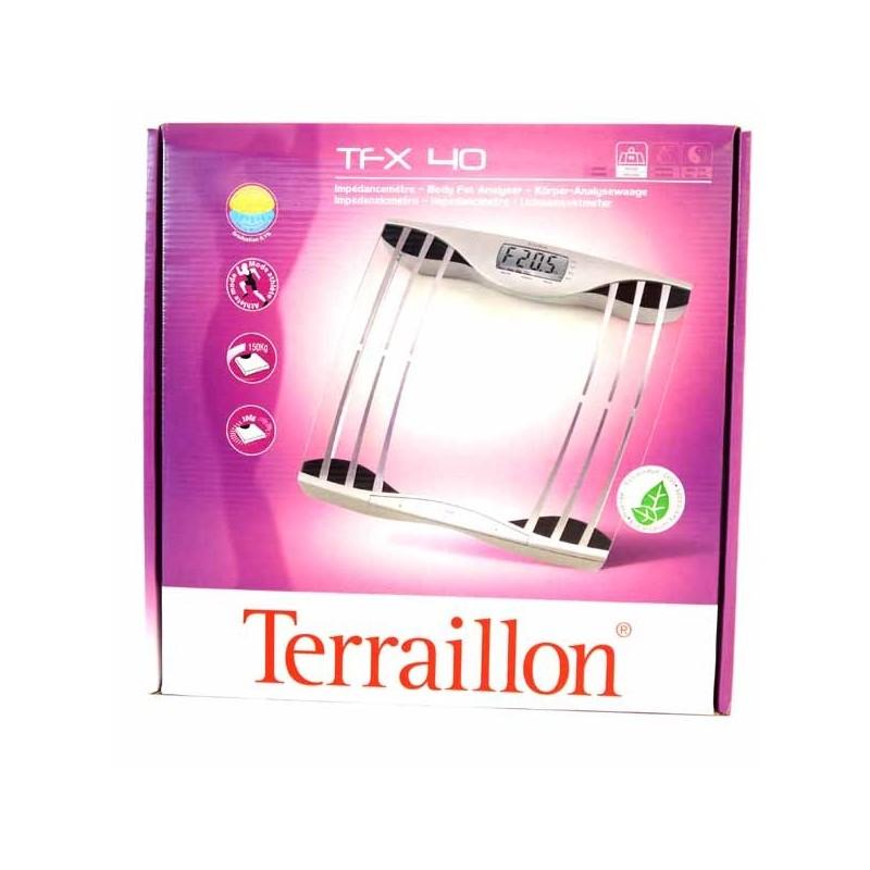 TERRAILLON PERSONENWEEGSCHAAL TFX40     GLAS ZILVER