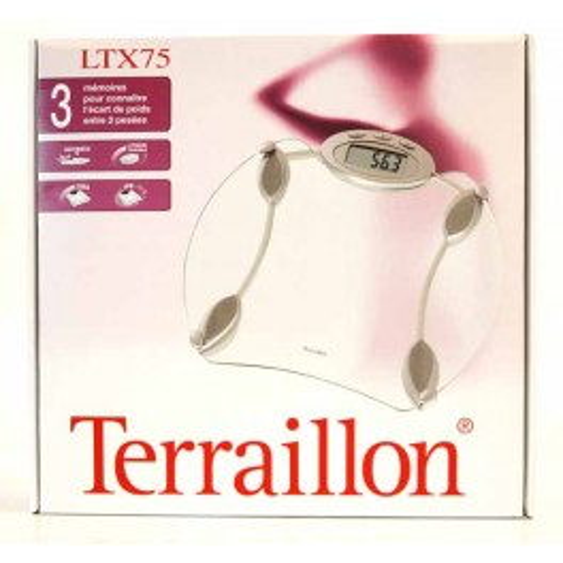 TERRAILLON PERSONENWEEGSCHAAL LTX75 GLAS