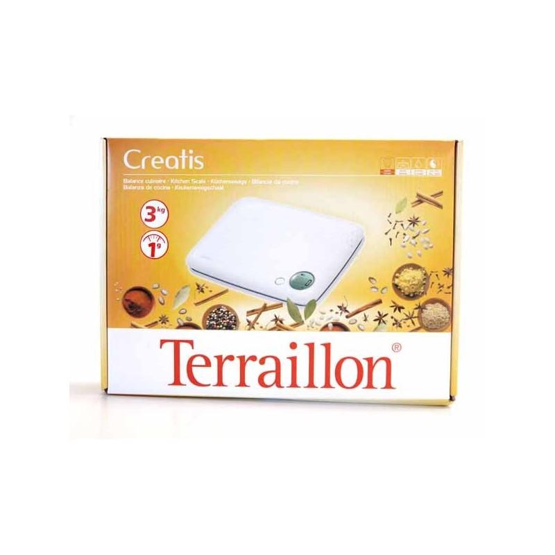 TERRAILLON KEUKENWEEGSCHAAL CREATIS 3KG WIT