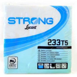 STRONG LUCART SERVIETTEN  WIT 48 X 50 ST 2 COUCHES 32.5 X 32.5 C