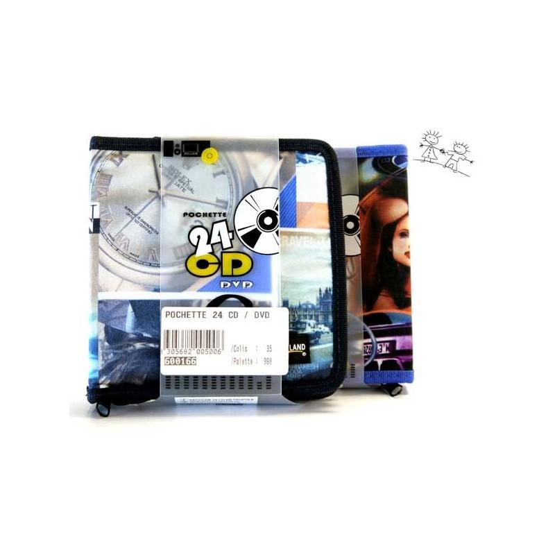 POCHETTE 24 CD OU DVD BLEUE