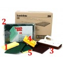 N°2 COMMERCIAL SCOURING PAD 10 PIECES