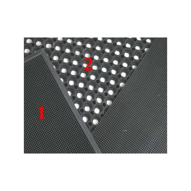 N°1 FELGON MAT - ZWART + BOORD  60x40CM