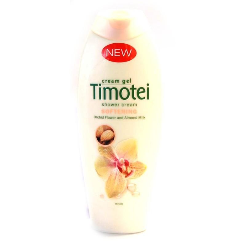 TIMOTEI DOUCHE GEL SOFTENING AMANDELMELK EN ORCHIDEEBLOEMEN 250M