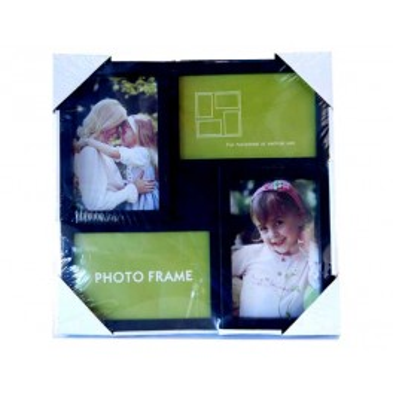FOTOHOUDER 4 X (10 CM X 15 CM) ZWART