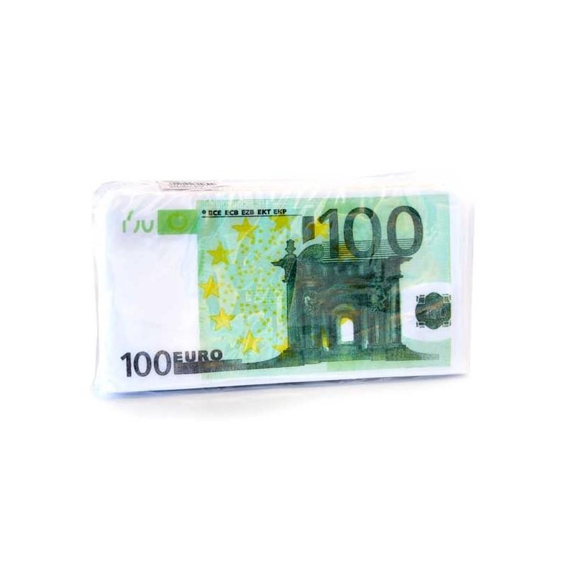 SERVIETTEN 100 € PRINT 20 ST