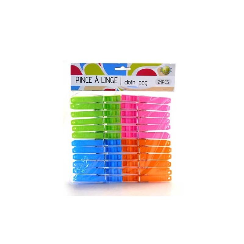 PINCES LINGE PLASTIC 24 PCES
