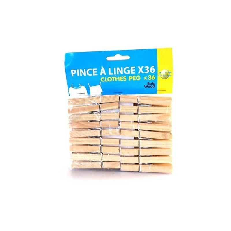 PINCE A LINGE EN BOIS X36