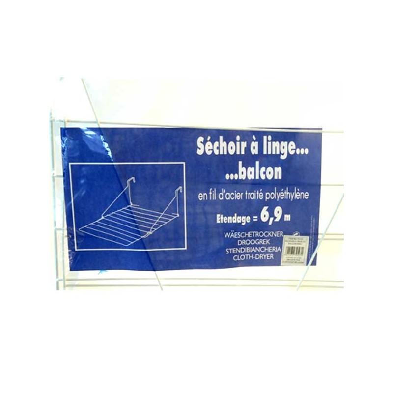 SECHOIR A LINGE POUR BALCON 6M90 ETANDAGE