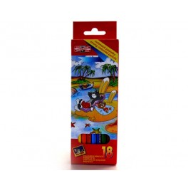 CRAYONS COULEURS TOM & JERRY 18 PCS