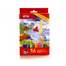 CRAYONS COULEURS TOM & JERRY 36 PCS
