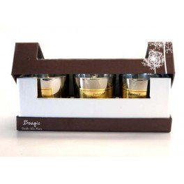 BOUGIE POT VERRE X3 PARIS