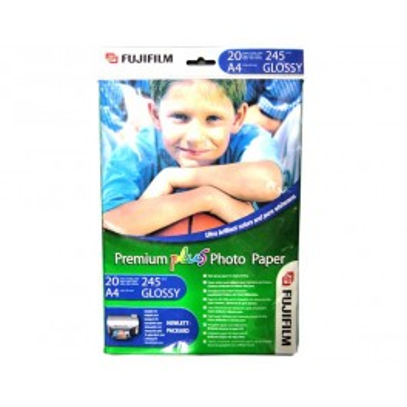FUJIFILM PAPIER PHOTO PREMIUM PLUS 245GR(A4 210 x 297 mm, 20 FEU