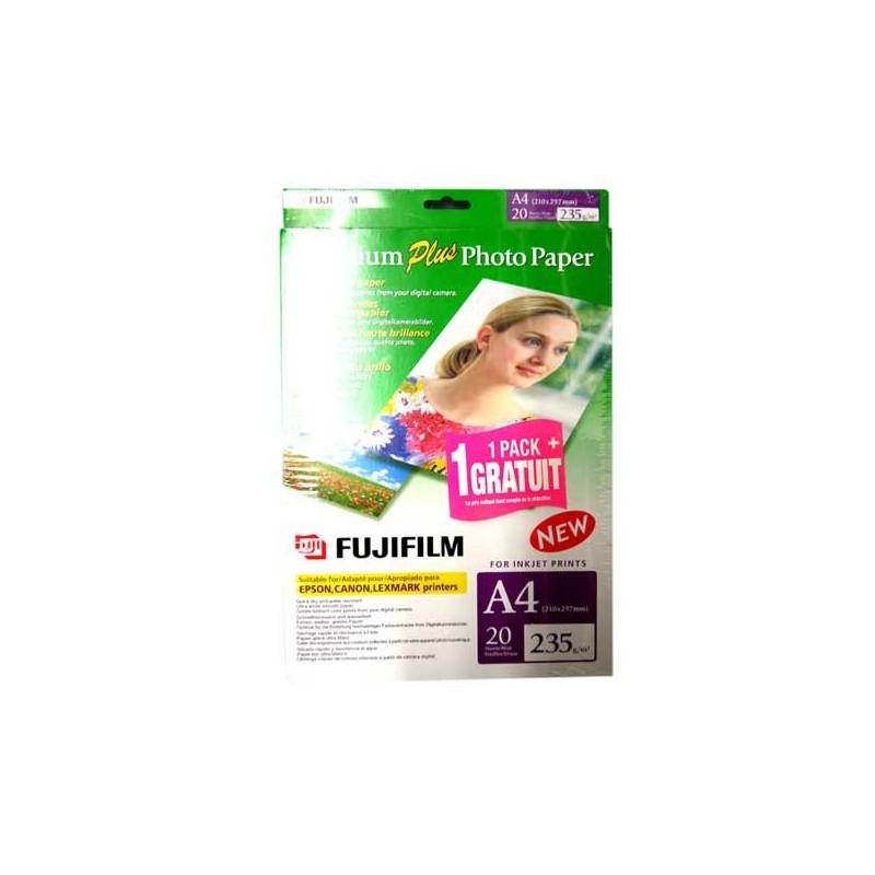 FUJIFILM PAPIER FOTO PREMIUM PLUS 235 GR(A4 210 x 297mm, BI PACK
