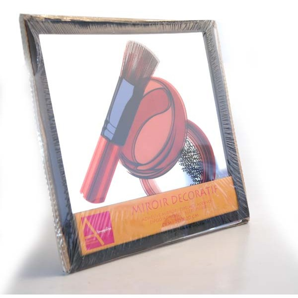 Miroir decoratif 20 x 20 maquillage for Miroir grossissant x 20