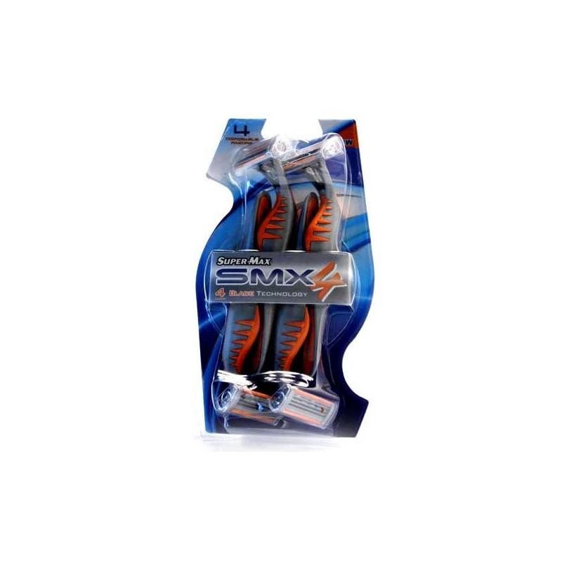 SUPERMAX RASOIR 4 LAMES POUR HOMMES 4 PCS SMX4