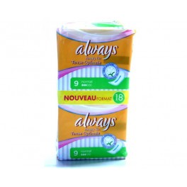 ALWAYS SERVIETTES HYGIENIQUES SIMPLY FIT NORMAL 18 PCS