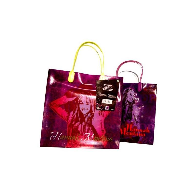 PLASTIC GIFT BAG HANNAH MONTANA