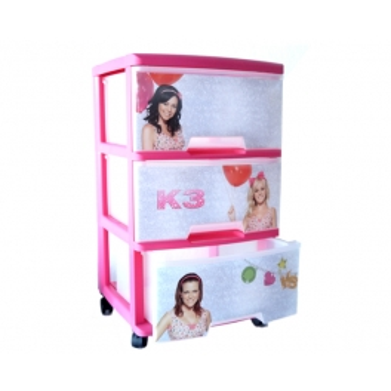 Storage Cabinet 3 drawers K3 wheel