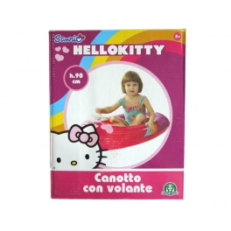 Bateau gonflable avec volant Hello Kitty 90cm