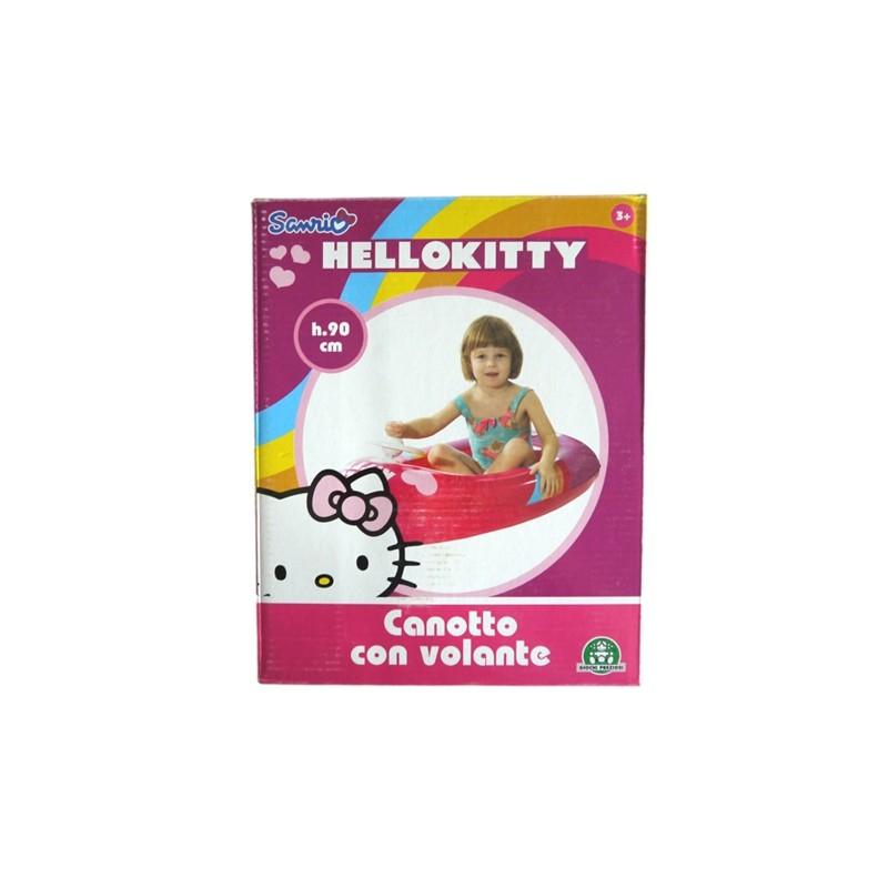 Opblaasbare boot met stuur 90CM Hello Kitty