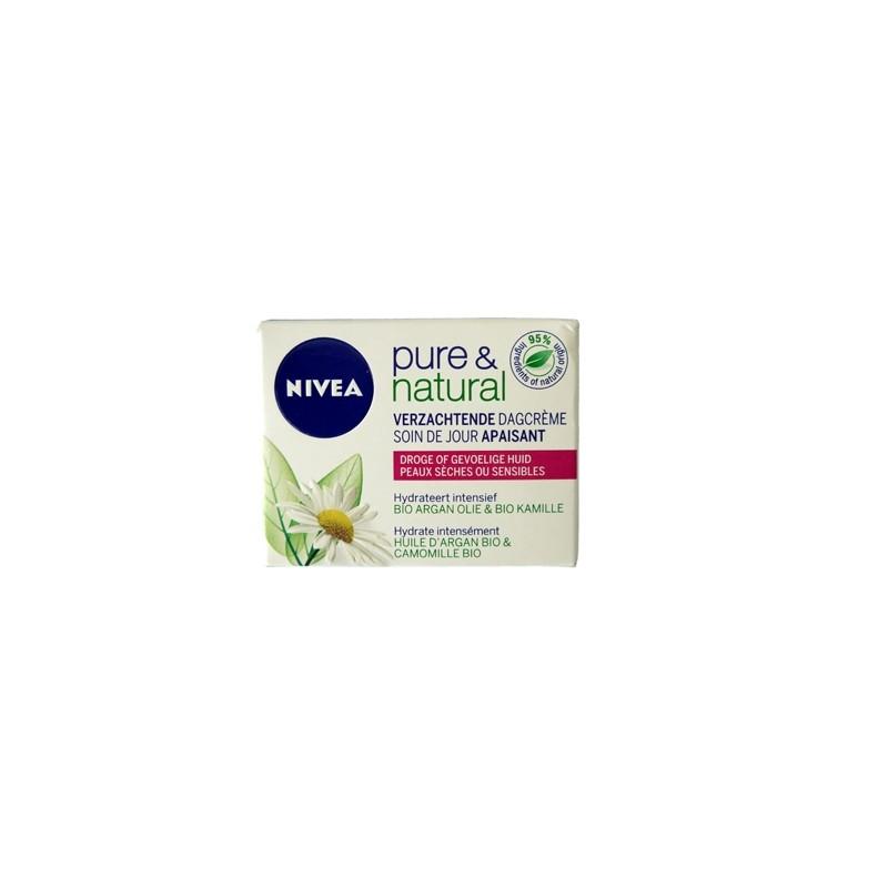 NIVEA VISAGE PURE & NATURAL DAGCREME    50 ML DROGE OF GEVOELIGE HUID