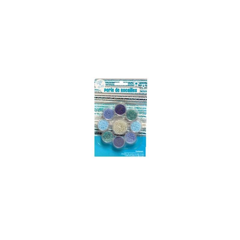 PERLES DE ROCAILLE MER DU SUD  9 PCS