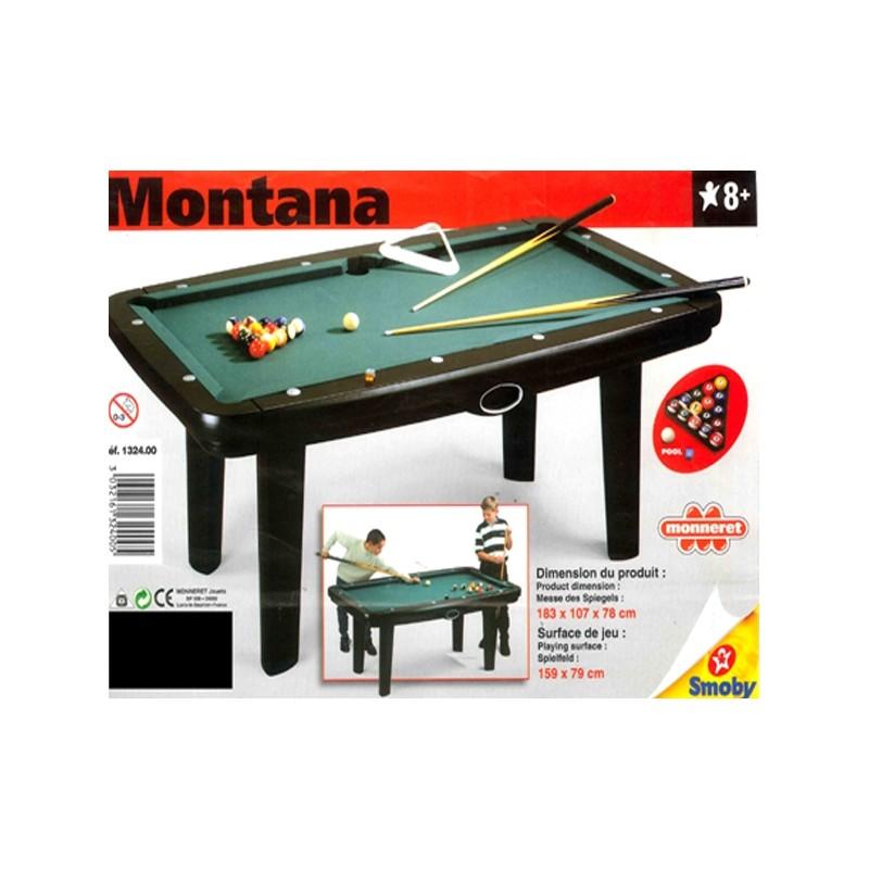 BILLARD MONTANA 183X107X78 cm / Terrain de jeu 159X79 cm