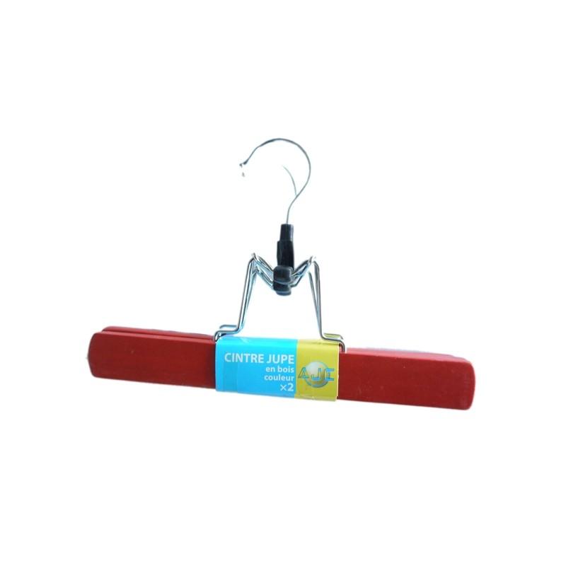 SKIRT HANGER WOOD RED X2