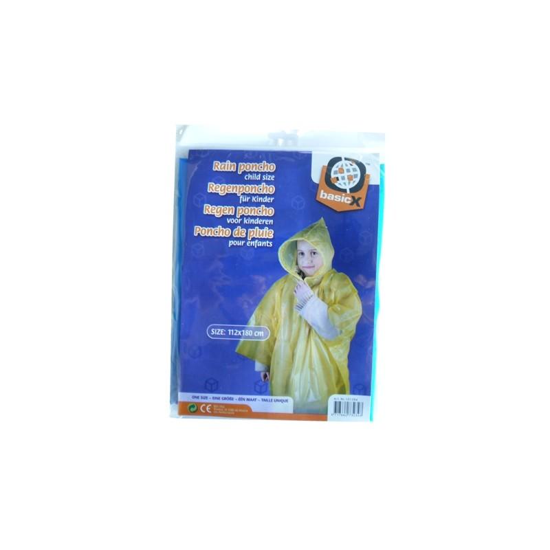 RAIN PONCHO FOR KIDS ONE SIZE