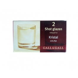SHOT GLASS CRYSTAL 7 CL 2 PIECES