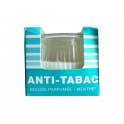 BOUGIE VERRE ANTI TABAC MENTHE H: 7 CM