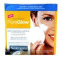 NEUTROGENA PURE GLOW CLEANSING CUSHIONS 22 ST/PC