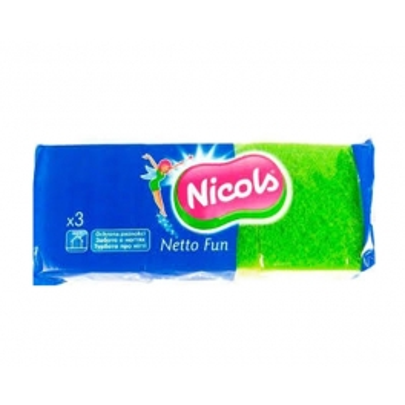 NICOLS EPONGE SYNTHETIQUE NETTO FUN X3
