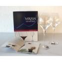 GLAS X4 ROTWEIN-GLAS 47 CL MIKASA + KLEINE WEINBUCH