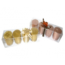 CANDLE DIAMOND COLLECTION 4 ST GOLDEN (7 HOURS)