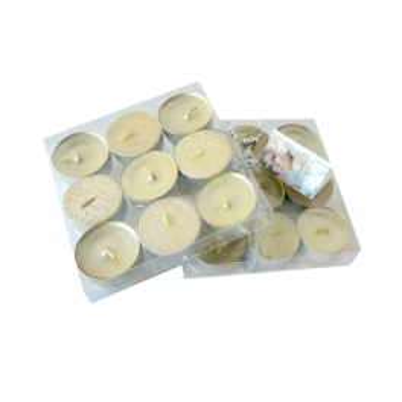 TEA LIGHTS DIAMOND COLLECTION X9 GOLD COLOR (3.5 HOURS)