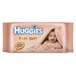 HUGGIES BABYDOEKJES SOFT SKIN 64 ST
