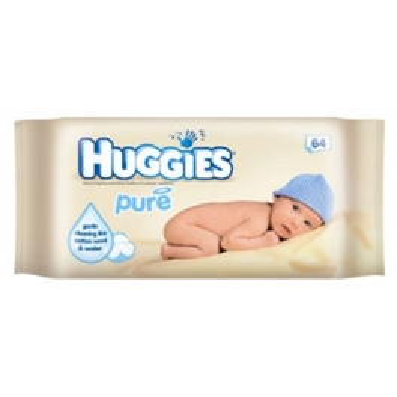 HUGGIES BABYDOEKJES PURE 64 ST