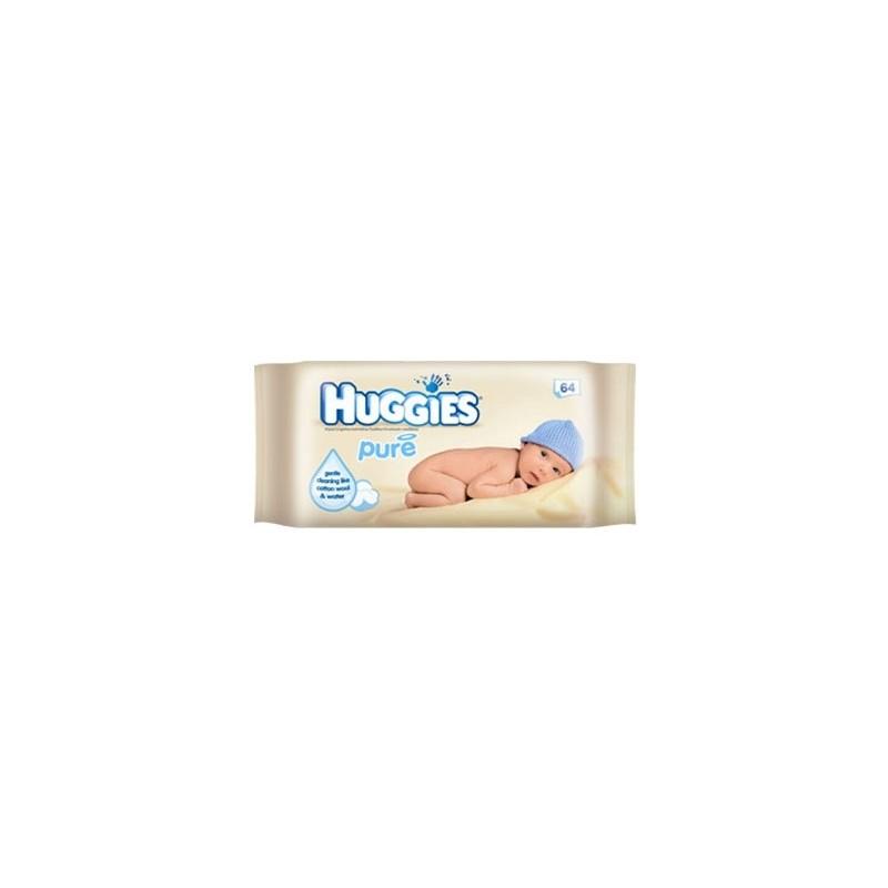 HUGGIES LINGETTES BEBE PURE X64