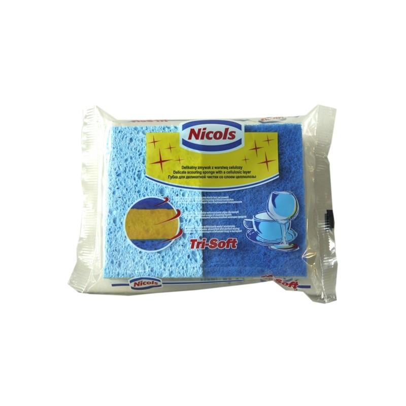 NICOLS Kunststoffschwamm TRI-SOFT 3 IN 1 X 2